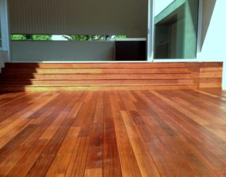 Merbau decking with terrace stairs